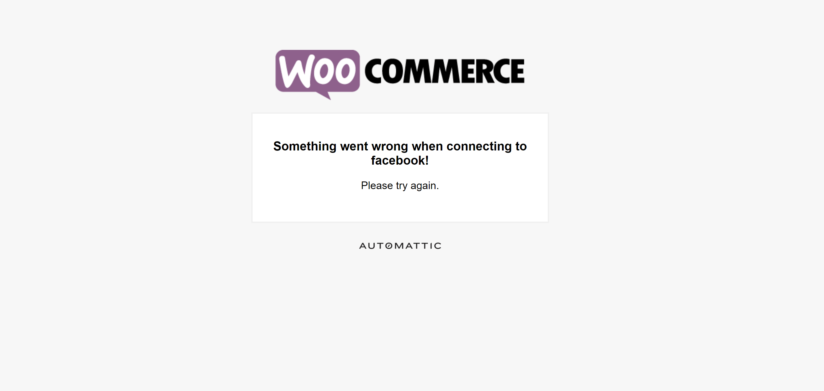 Что-то пошло не так при подключении к Фейсбуку! Ошибка интеграции WooCommerce + Фейсбук