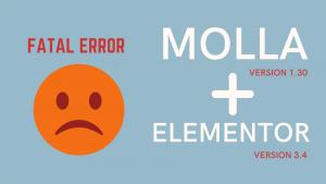 "Molla 1.3.0 и Elementor 3.4 Несовместимs ""Fatal error: Access level to Molla_Element_Section::get_html_tag()"""